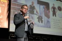 On-Body, In-Tune: Personalising Digital Health Tech by Jens Krauss (CSEMSTUDIO) at the Wear It Festival - The Conference on Wearables, fashion tech, smart clothing and consumer innovation on 19-20 June 2018 at the Kulturbrauerei Berlin - (c) Wear It Berlin / Michael Wittig, Berlin