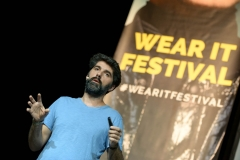 Expanding Our Cognitive Behaviour through Anomaly Detection Algorithms by Avi Elran (CODEPAN) at the Wear It Festival - The Conference on Wearables, fashion tech, smart clothing and consumer innovation on 19-20 June 2018 at the Kulturbrauerei Berlin - (c) Wear It Berlin / Michael Wittig, Berlin