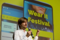 Thomas Gnahm (Wear It, Founder) opening speach at the Wear It Festival - The Conference on Wearables, fashion tech, smart clothing and consumer innovation on 19-20 June 2018 at the Kulturbrauerei Berlin - (c) Wear It Berlin / Michael Wittig, Berlin