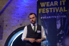 "Carlo Pilz from Reuschlaw ""Watch your wearable date: GDPR & the Data your smart cloth create"" at Wear It Festival - The Conference on Wearables, fashion tech, smart clothing and consumer innovation on 19-20 June 2018 at the Kulturbrauerei Berlin -  (c) Wear It Berlin / Michael Wittig, Berlin"