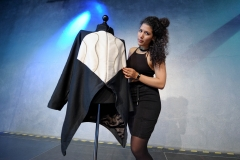 Layla de Mue in the Exhibition Hall at the Wear It Festival - The Conference on Wearables, fashion tech, smart clothing and consumer innovation on 19-20 June 2018 at the Kulturbrauerei Berlin - (c) Wear It Berlin / Michael Wittig, Berlin